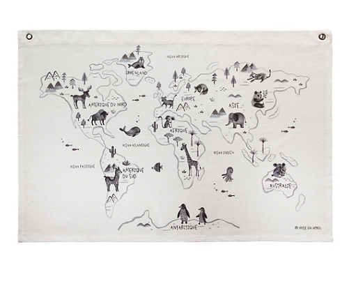 La carte du Monde par Rose in April