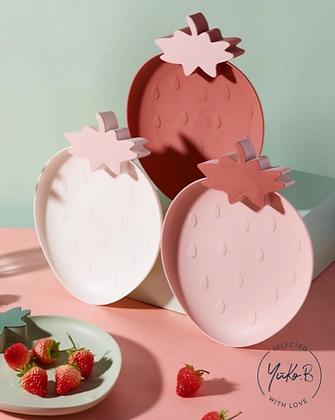 Assiette rose Fraise - Yuko B