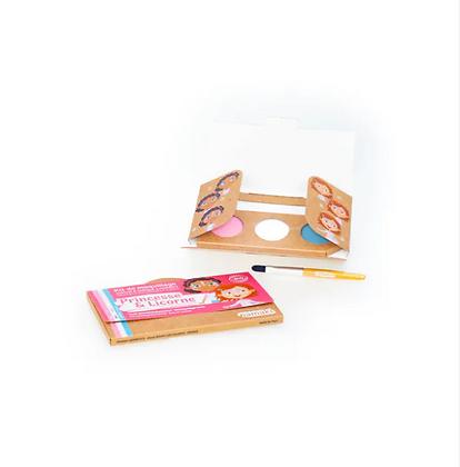 Kit de maquillage 3 couleurs, Princesses et Licornes - Namaki