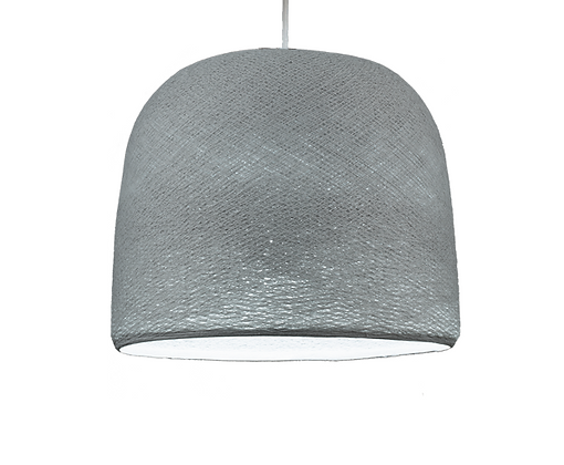 Abat-jour Cloche perle, suspension blanche - La Case de Cousin Paul