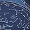 Thumbnail: Poster en stickers - CARTE DU CIEL PHOSPHORESCENTE