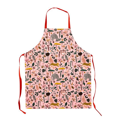 Tablier de cuisine enfant, Jungle Rose - Rice