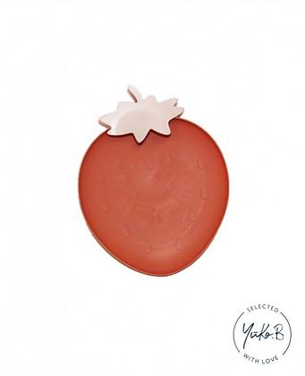 Assiette rouge Fraise - Yuko B