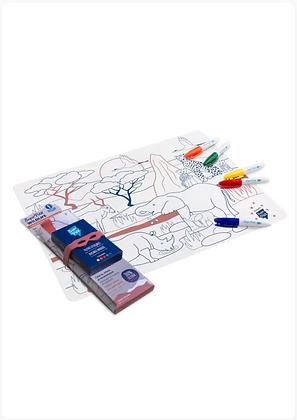 Set de table silicone thème Savane à colorier - Super Petit