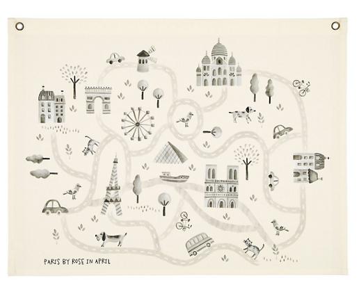 La carte de Paris par Rose in April