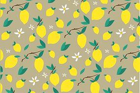 Lemon Leaf Flower Pattern Elegant Vintag