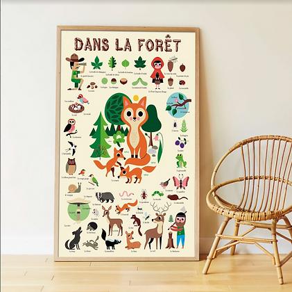 Poster - Puzzle en stickers La Forêt