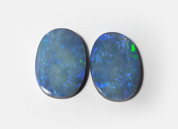 Par de Opalas Doublet