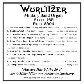 Wurlitzer 165 Roll 6894