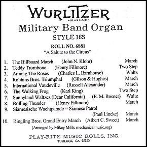 Wurlitzer 165 Roll 6881