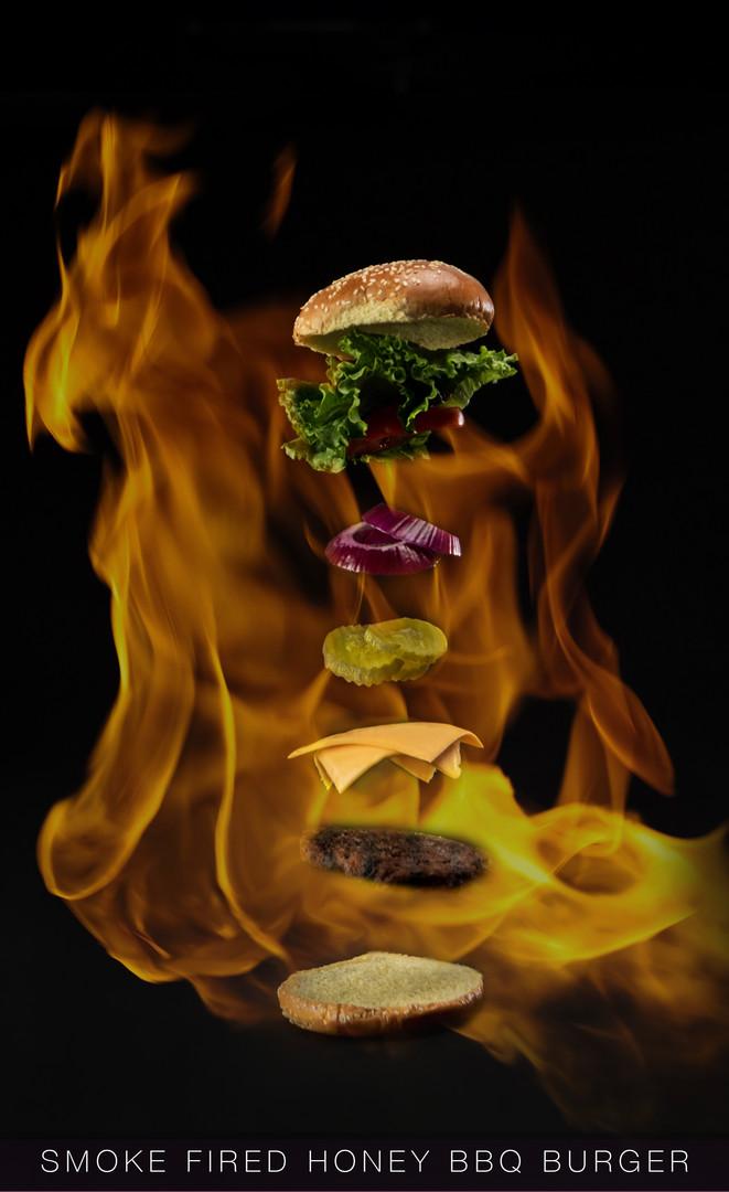 smoke Fired Honey BBQ Burger