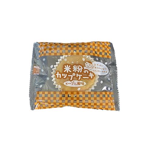 米粉のカップケーキ メープル