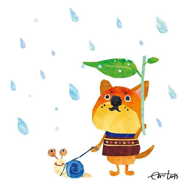 あめのひのさんぽ 雨の日はきみがよろこぶね #illustration #Ill
