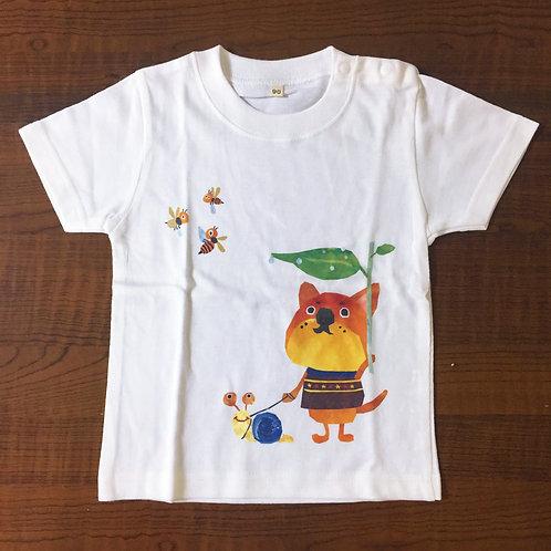 Tシャツ(サイズ90)『雨の日の散歩』