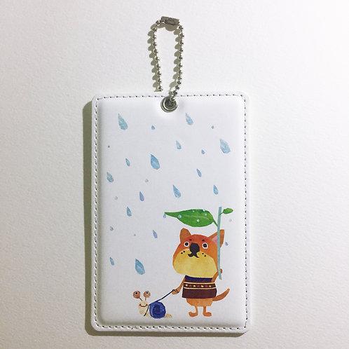 ICカードケース 『雨の日の散歩』