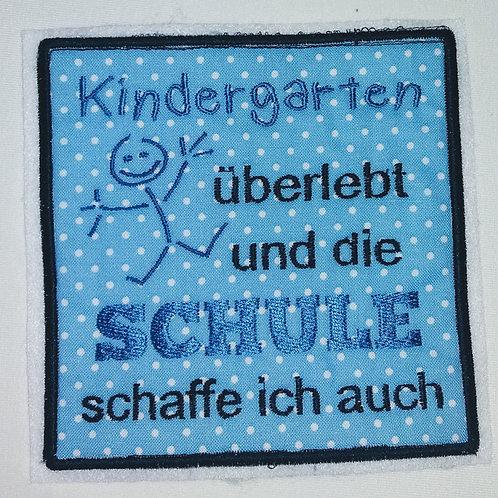 Kindergarten überlebt Applikation, aufbügelbar
