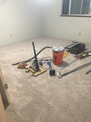 Construction time! Contractors did carpet install