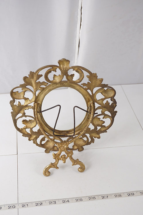 Early 1900s Brass Picture Frame