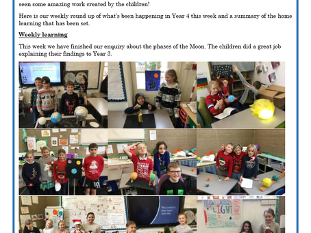 Year 4 Weekly Letter 18/12/20