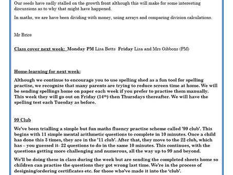Year 2 Weekly Letter 14/05/2021