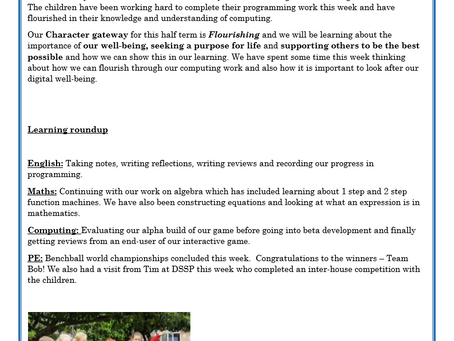 Year 6 Weekly Letter 28/05/2021