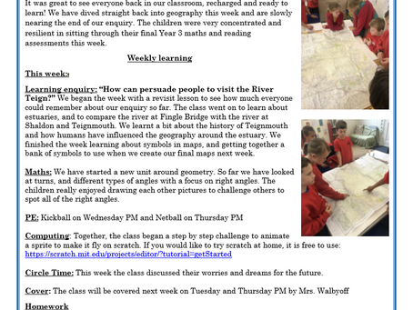 Year 3 Weekly Letter 18/06/2021