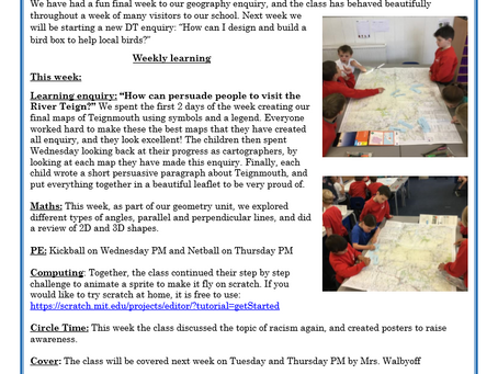 Year 3 Weekly Letter 25/06/2021