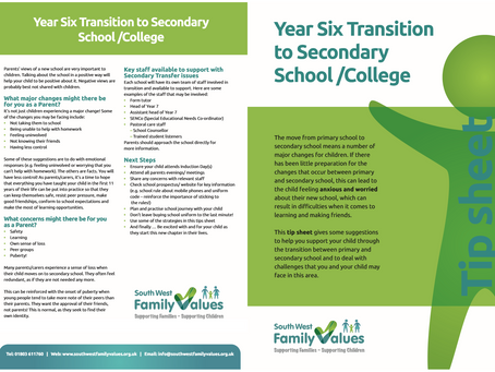 Year 6 Transition To Secondary School Tips