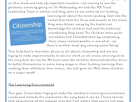 Year 1 Weekly Letter 25/06/2021
