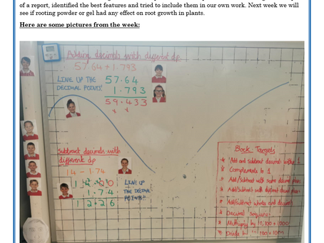 Year 5 Weekly Letter 21/05/2021
