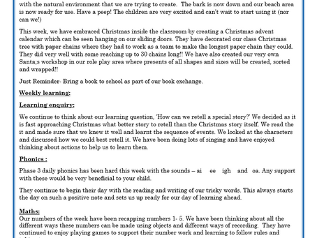 Reception Weekly Letter 04/12/20