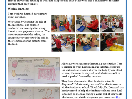 Year 4 Weekly Letter 09/07/2021