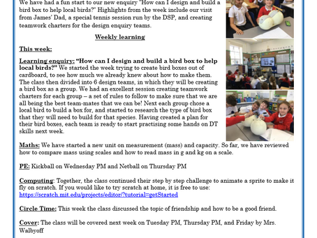 Year 3 Weekly Letter 02/07/2021
