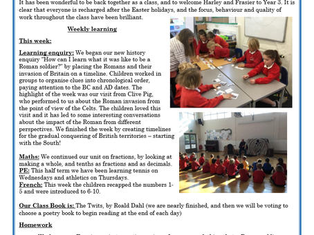 Year 3 Weekly Letter 23/04/2021
