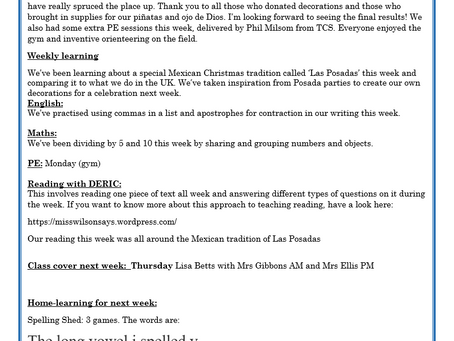 Year 2 Weekly Letter 11/12/20