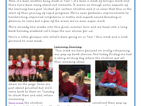 Year 1 Weekly Letter 30/04/2021