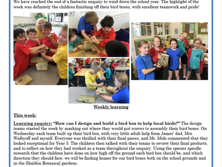 Year 3 Weekly Letter 16/07/2021