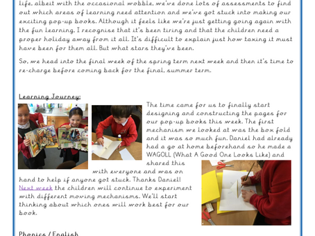 Year 1 Weekly Letter 26/03/2021
