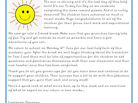 Year 1 Weekly Letter 28/05/2021