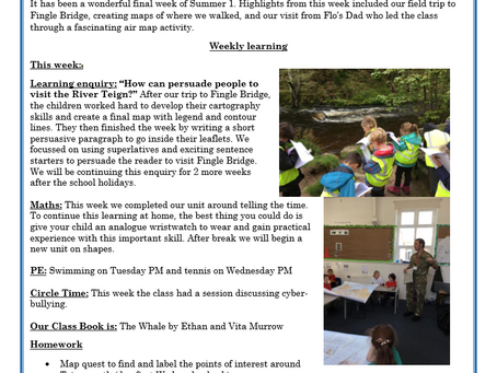 Year 3 Weekly Letter 28/05/2021