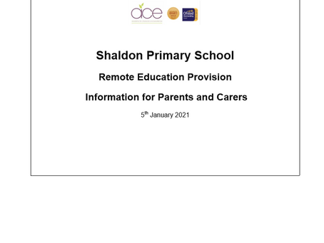 Remote Education Provision Information for Parents and Carers