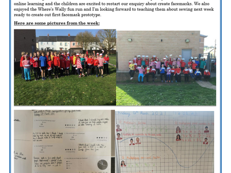 Year 5 Weekly Letter 12/03/2021