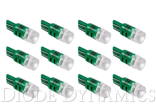 194 LED Bulb HPHP3 LED Green Set of 12