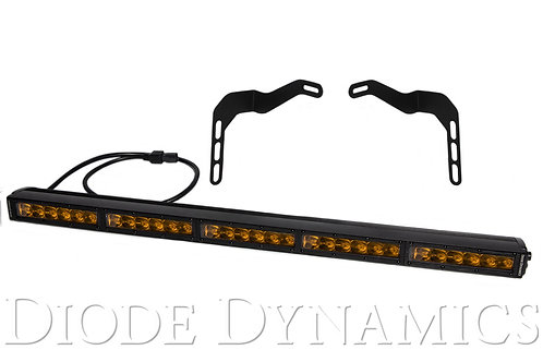 Tundra 30 Inch LED Lightbar Kit Amber Driving Stealth Series