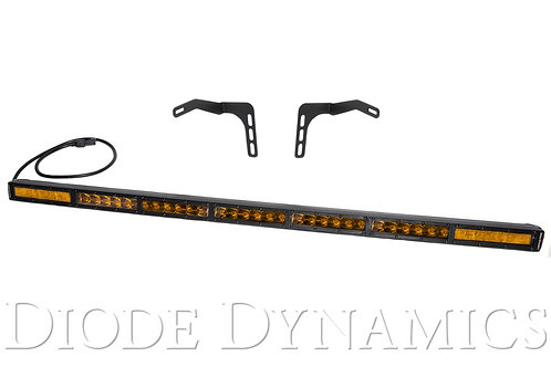 Tundra 42 Inch LED Lightbar Kit Amber Combo Stealth Series