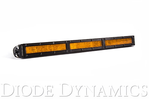 18 Inch LED Light Bar  Single Row Straight Amber Wide Each Stage Series