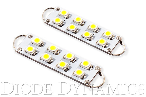 44mm SML8 LED Bulb Cool White Pair