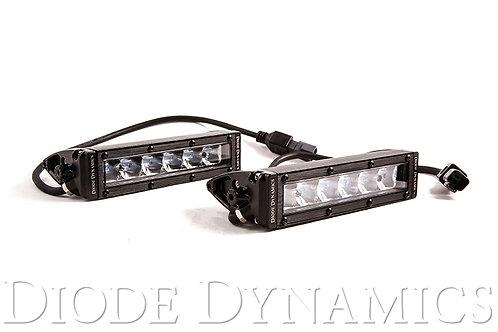 6 Inch LED Light Bar Single Row Straight SS6 White Driving Light Bar Pair