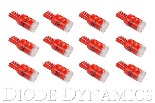 194 LED Bulb HP5 LED Red Set of 12