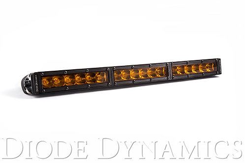 18 Inch LED Light Bar  Single Row Straight Amber Driving Each Stage Series